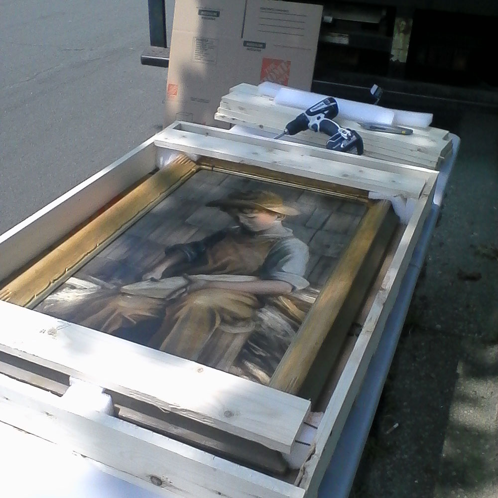 Painting packed by moving service in New York