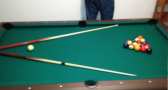Pool table moved by company in New York