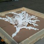 art sculpture being crated in New York