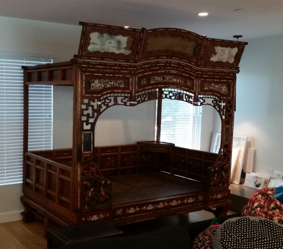 large bedroom set moved by relocating service in New York